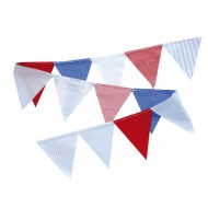 Wimpelkette blau-rot  in 150cm oder 300cm von Annette Frank