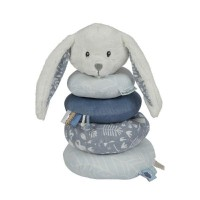 Little Dutch Steckspiel Stoff-Stapelturm Hase Adventure blue