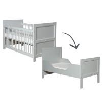 Bopita Babyflex Mix&Match umbaubares Babybett 70x140cm in pure grey