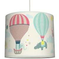 Anna Wand Lampenschirm Hot Air Ballons Taupe/Blau/Koralle  ø 40