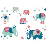 Anna Wand Wandsticker Elefanten Boys